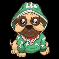 PugsTime Mascot Logo